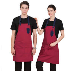 Унисекс шеф-повар, официант кафе ресторан Пособия по кулинарии Кухня фартук регулируемый Фартук с карманами нагрудники