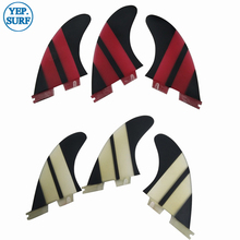 FCS II G3/G5/G7 Fins Black/Red decorate Fiberglass Fin Surf FCS2 G3,G5.G7 Surfboard Hot Sale