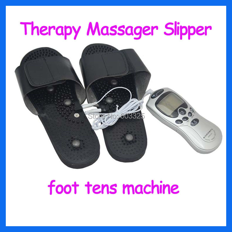Body Health Care Tens Acupuncture Digital Therapy Machine Device Electronic Pulse Massage + Foot Slipper Massager massagem tens acupuncture electric digital therapy neck back machine massage electronic pulse full body massager health care equipment