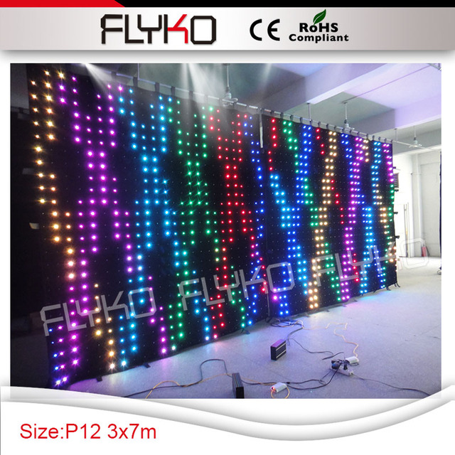 free shipping 3m7m led wall pixel 120mm best price latest technology flexible led video in lighting r99 technology