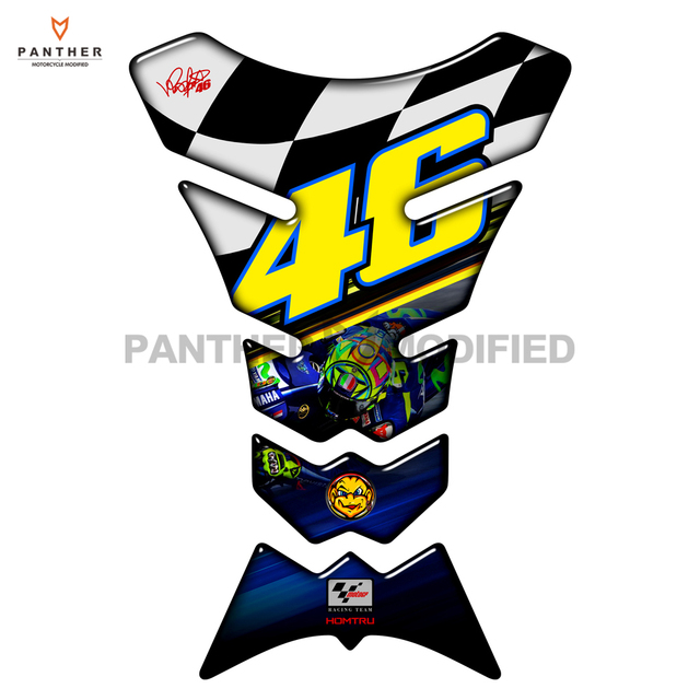 Motorcycle fuel tank pad protector motocross racing 46 rossi sticker case for honda cbr 600 900