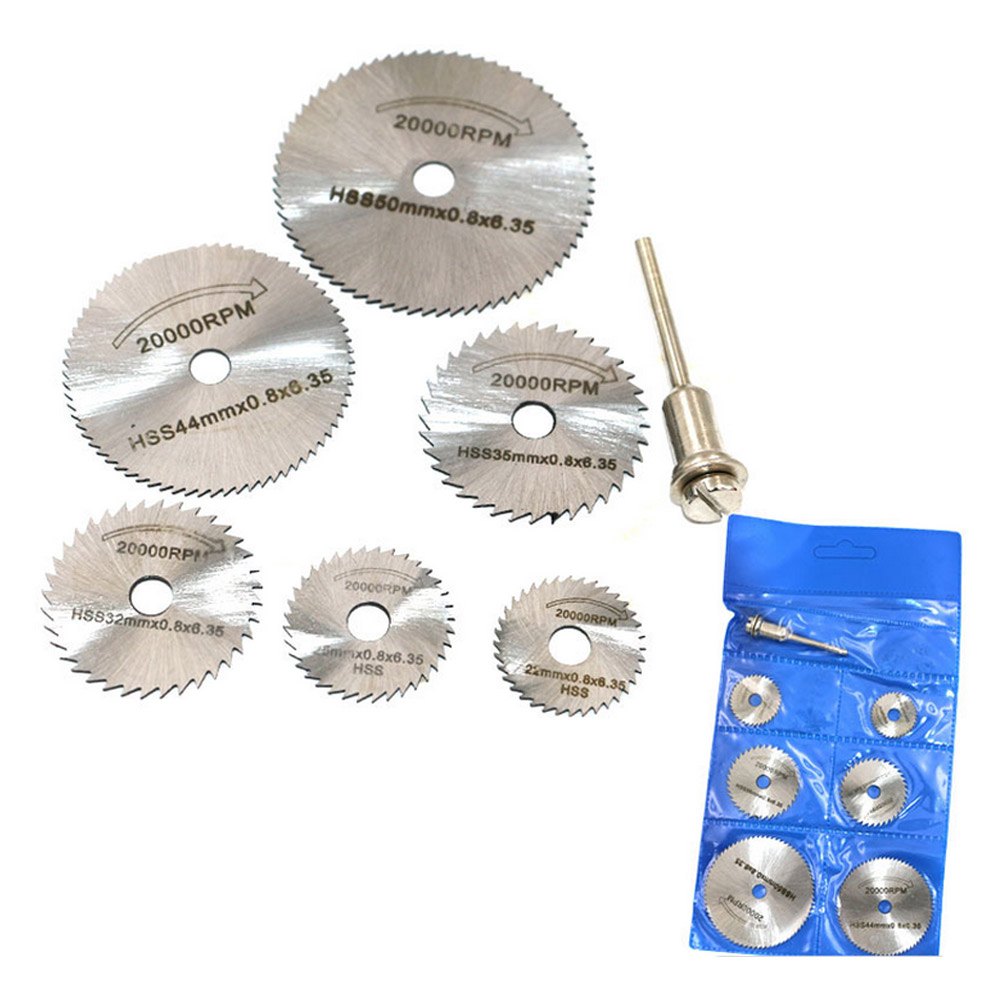 7Pcs HSS Rotary Circular Saw Blades Tool Cutting Discs 3.2mm Mandrel Set CLH@8 thomas dolinschek the real options approach