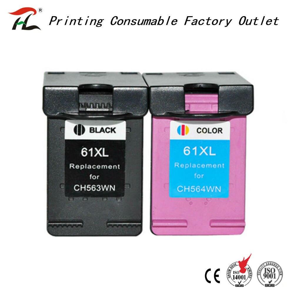 HTL 61xl remanufactured ink cartridge for hp61xl HP 61XL compatible for HP DesJet 1050 2050 2050s inkjet printer
