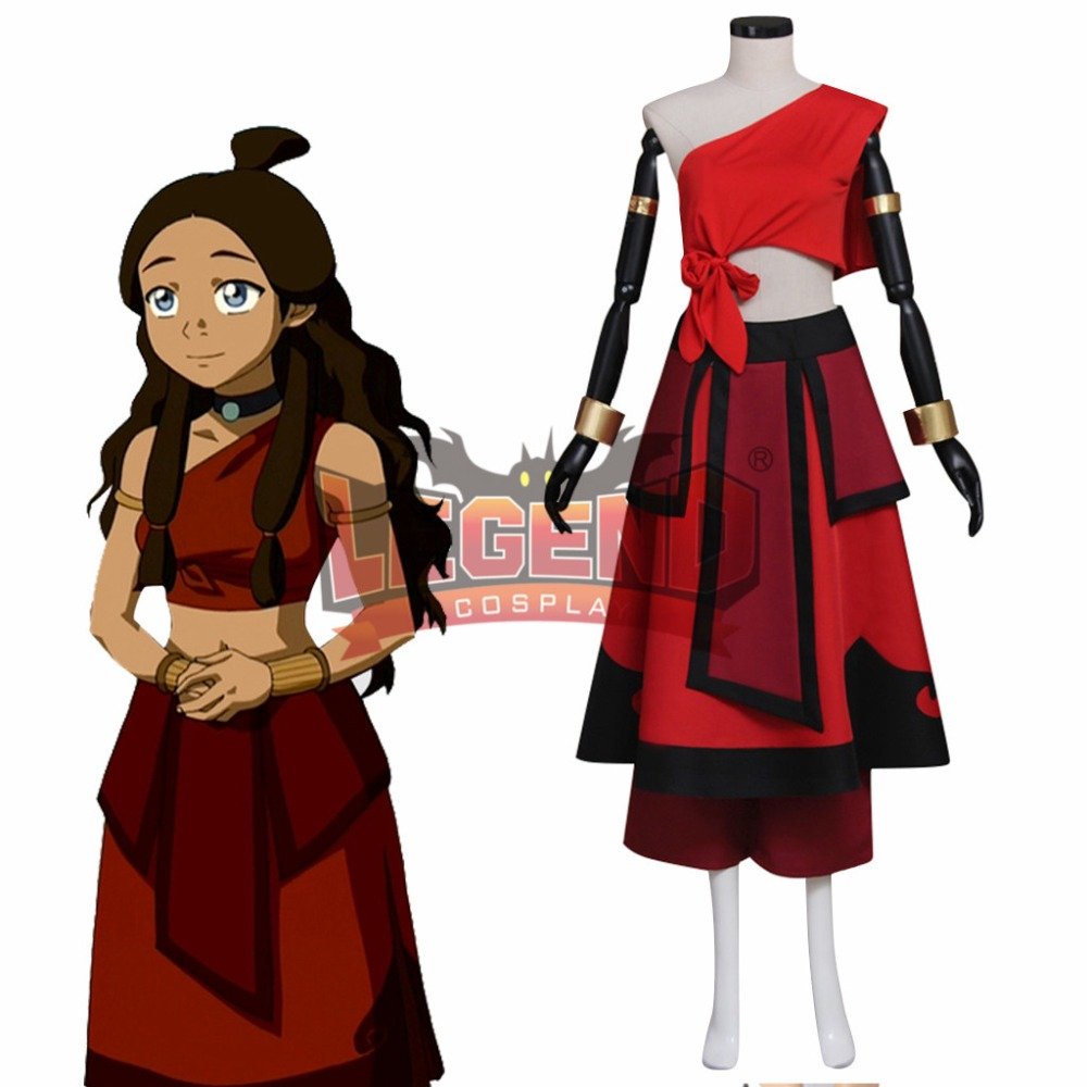 Avatar The Last Airbender Katara Cosplay Costume adult female outfit custom made Halloween costume