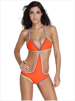 Handmade Crochet Neoprene One Piece Swimsuit