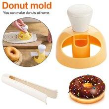 Форма для изготовления пончиков, форма для помадки, торта, выпечки, пончиков, сделай сам, жареный пончик, резак, силиконовая форма для шоколада, инструменты для украшения торта
