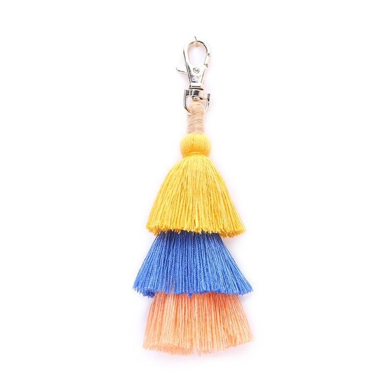 Colorful Bohemian Tassel Bag Charm Car Keychain Handbag Shoulder Bags Pendant Gift