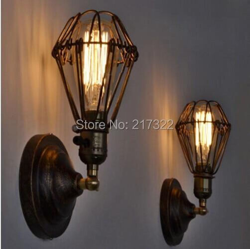 EDISON VINTAGE WALL LIGHT CHANDELIER Rustikální drátové závěsné svítidlo