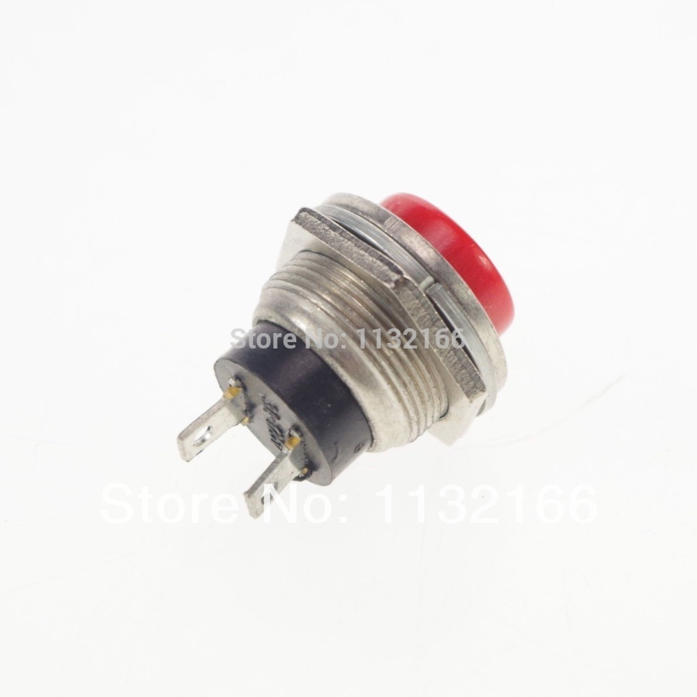 Push Switch 3a 125vac Wiring Diagrams Data Base Spst Diagram Red Hole 16mm 2 Pin No Momentary Button Rh Aliexpress Com On Arduino For