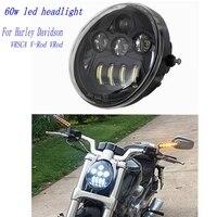 Harley Motorcycle LED HEADLIGHT Black Or Chrome Backplate For Harley V Rod VROD VRSCA Headlight VRSC