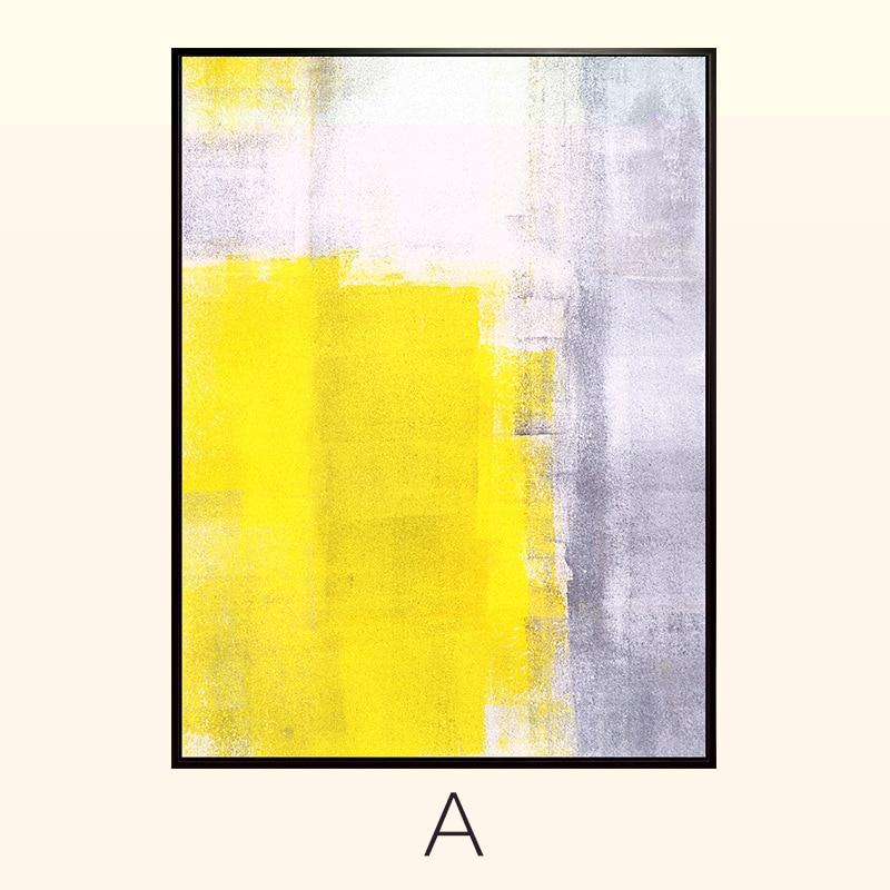 Ձեռքով նկարված պատի արվեստի դեղին - Տնային դեկոր - Լուսանկար 4