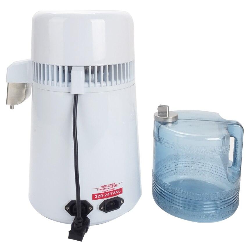 Beste Thuis zuiver Water Distilleerder Filter machine distillatie Purifier apparatuur Roestvrij Staal Water Distilleerder Waterzuiveraar 4L - 6