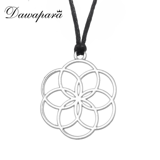 US $0 6  Dawapara Seed Of Life Pendants Necklace Flower Of Life Yoga  Jewelry Mandala Sacred Geometry-in Pendants from Jewelry & Accessories on