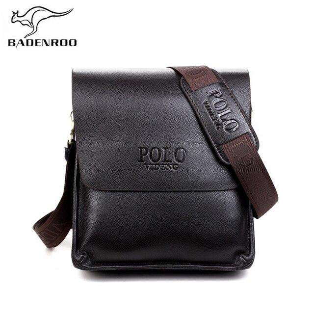 9f1c0979d4ca Badenroo Leather Men Bag Casual Business Messenger Bag Vintage Shoulder  Bags Famous Brand Polo Men s Crossbody Bag Bolsas male