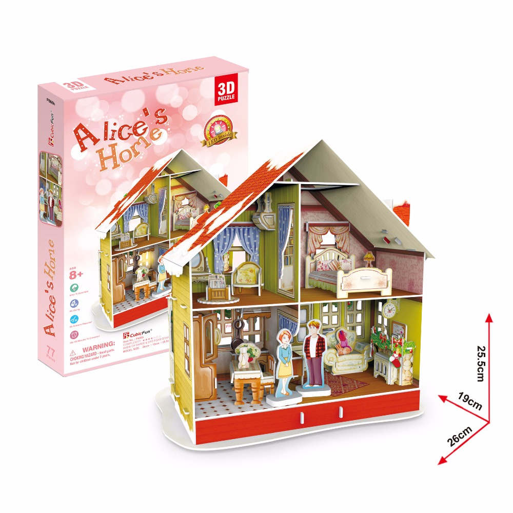 Buy free shipping 3d wood puzzle diy for Dream house 3d