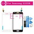 """Оригинал Для Samsung Galaxy Core 2 G355h G355 Сенсорный Экран Датчик Дигитайзер Переднее Стекло Объектива 4.5 """"черный Или Белый + Инструментов"""