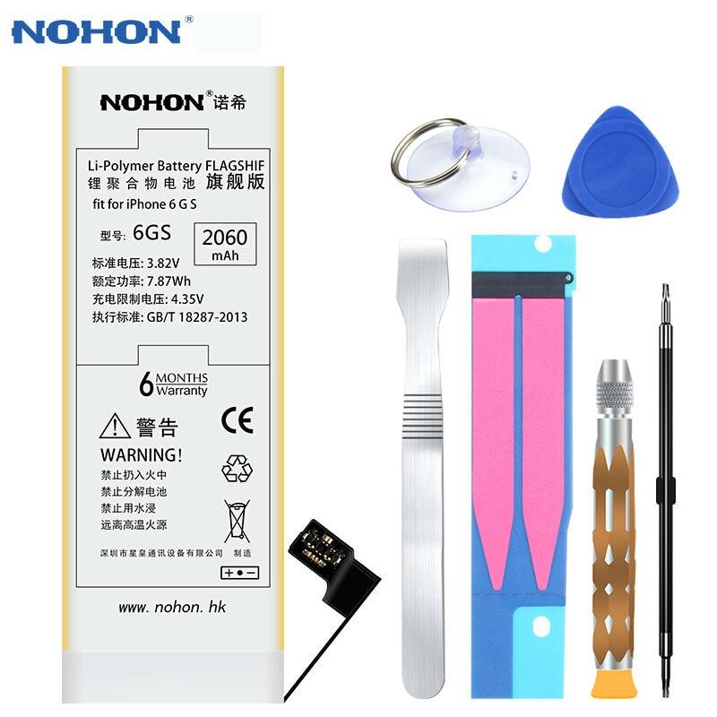 imágenes para NOHON Batería Recargable Para Apple iPhone 6 s Teléfono Incorporado 2060 mAh Baterías de polímero de litio de Alta Capacidad Real Con herramientas + Paquete