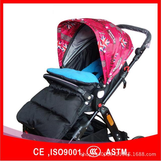 Accesorios del cochecito de bebé saco de dormir de invierno stroler paded caliente a prueba de viento de algodón cubierta del pie calcetines de bebé