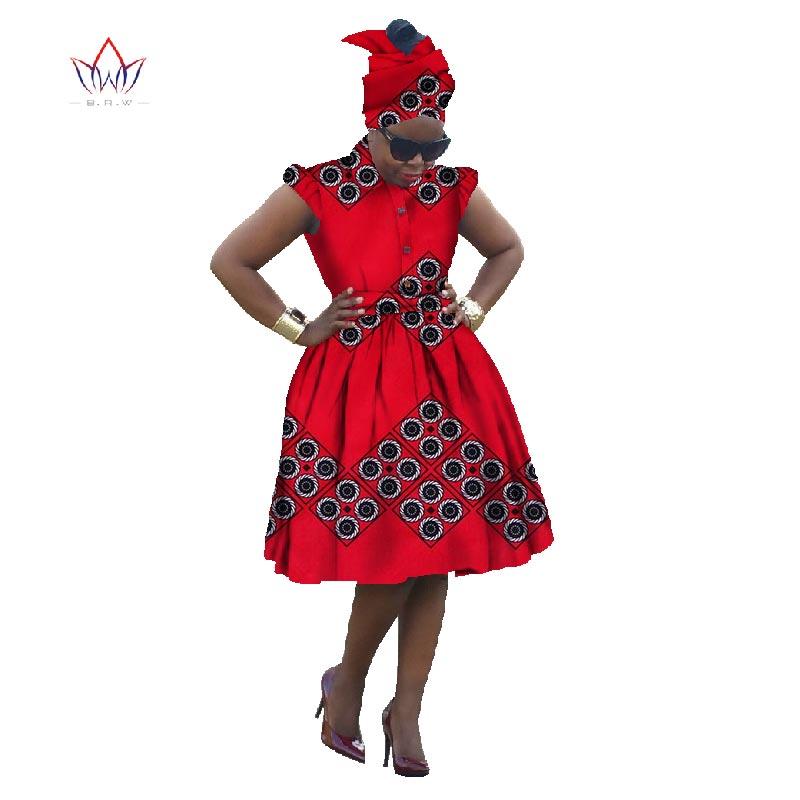 2019 BRW ljetna haljina afrički tradicionalni Dashiki za ženu Bazin Riche elegantna haljina u obliku Afričke voštane kuglice plus veličina nema WY448