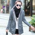 2016 Nova Queda E Roupas de Inverno de Veludo Grosso Camisola Hoodies Mulher Brasão Plus Size Jacket Magro Casacos Senhoras