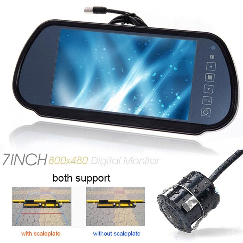 "USA Russian Native shipment 7\"" Car <font><b>LCD</b></font> TV Screen&CCD Waterproof Front/back Rear View Parking Helper Monitor/Camera kits"