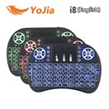 Backlight Original Inglês i8 2.4 GHz Teclado Sem Fio Air Mouse Touchpad Handheld Backlit para Android TV BOX Mini PC