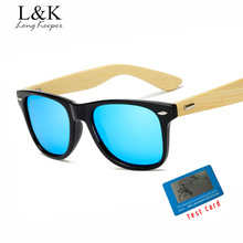 Long Keeper Bamboo Sunglasses Men Polarized Square Sun Glasses Mirror Reflective With HD Lens Eyewears Male oculos KP-Z1501