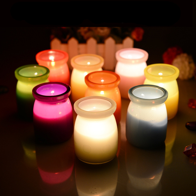 Romantic mosquitos Insect Repellents Citronella scented decorative glass candles jars for birthday wedding party decoration