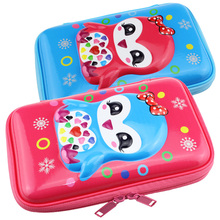 3D lovely pencil box girls for school case penguin bag large capacity big pen container holder supplies
