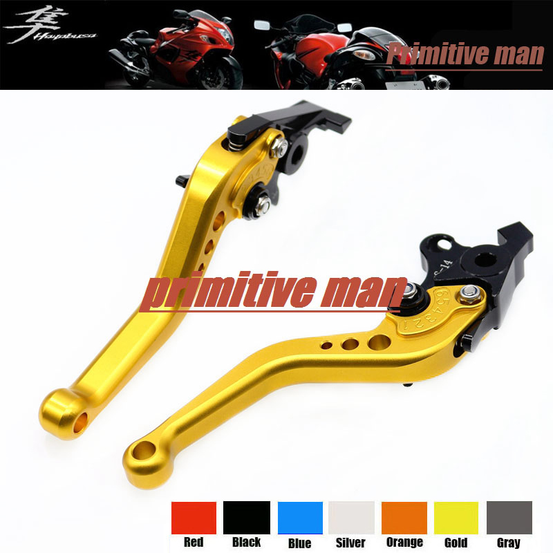 For SUZUKI GSX 1300R GSX1300R HAYABUSA 1999-2007 Motorcycle Accessories Aluminum short Brake Clutch Levers Gold aftermarket free shipping motorcycle parts billet brake clutch hand lever for suzuki gsxr1300r hayabusa 1999 2007 black