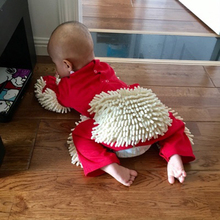 Baby Mop Romper noworodka ubrania indeksowania kombinezon niemowlę Mop do czyszczenia garnitur Mop do czyszczenia garnitur kostium body tanie tanio COTTON Kostek Dziewczyny Na co dzień PATTERN Dzieci