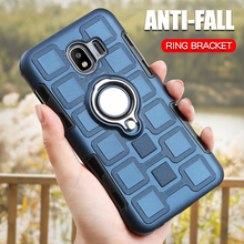 Luxury Armor Silicone Case For Samsung Galaxy J4 Plus Core 2018 Prime Cover Shockproof Phone Ring Holder Back