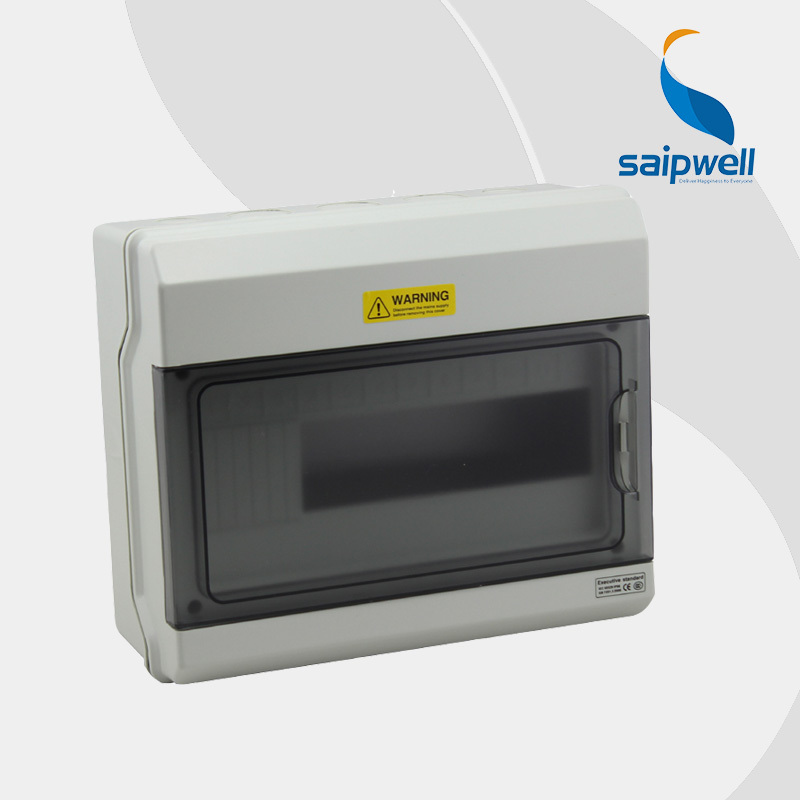 Saipwell 2014 Hot IP66 Waterproof PC Distribution Box 12 Ways Plastic Circuit Breaker Box 230 273