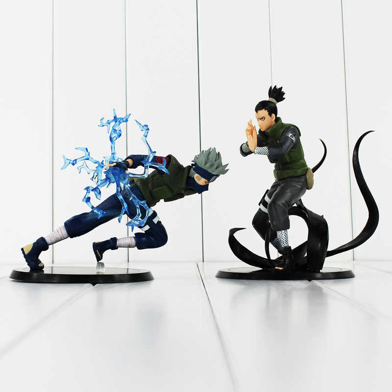 2 style Hatake Kakashi Nara Shikamaru pcv figurka zabawki NarutoCollectible Model lalki 12-15 cm