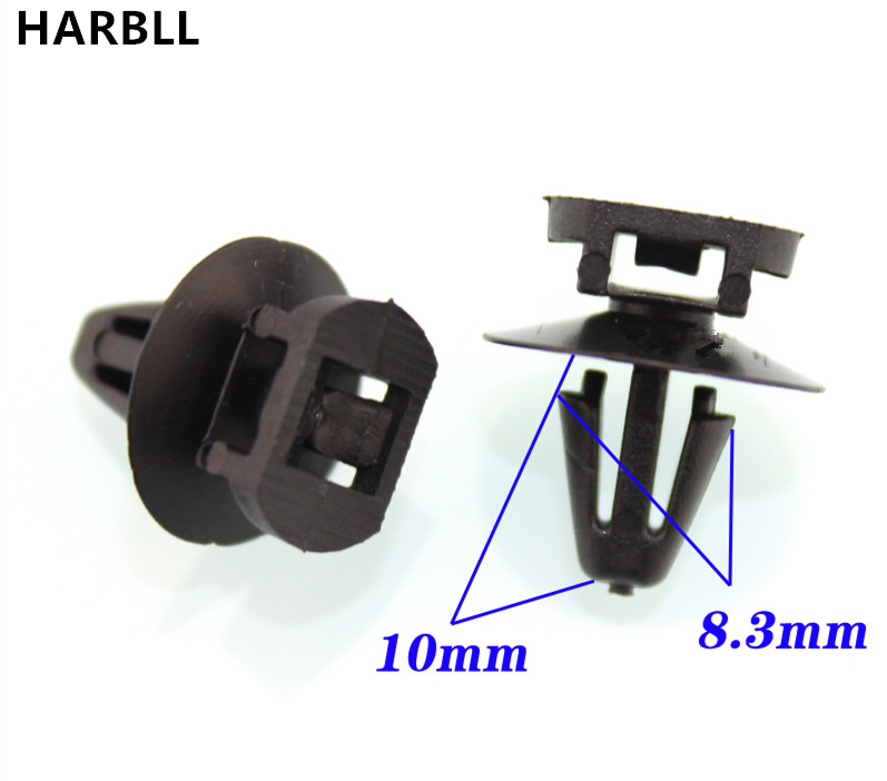 HARBLL 15PCS For Audi Volkswagen plastic fasteners Car sheet metal M6 mm aperture fixed cable ties base strap clip