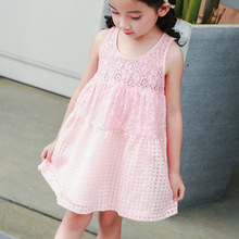 Girl Lace Dress 2017 Summer Girls Baby Princess Lace Flower Vest Dresses Children's Clothing 2-10T