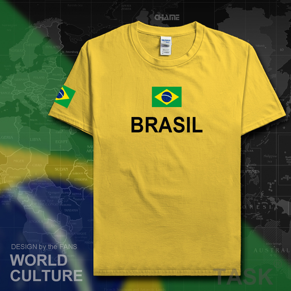 Design your t-shirt egypt - Brazil T Shirt Men 2017 T Shirt Tees Cotton Nation Team Jerseys Country Tshirt Fans