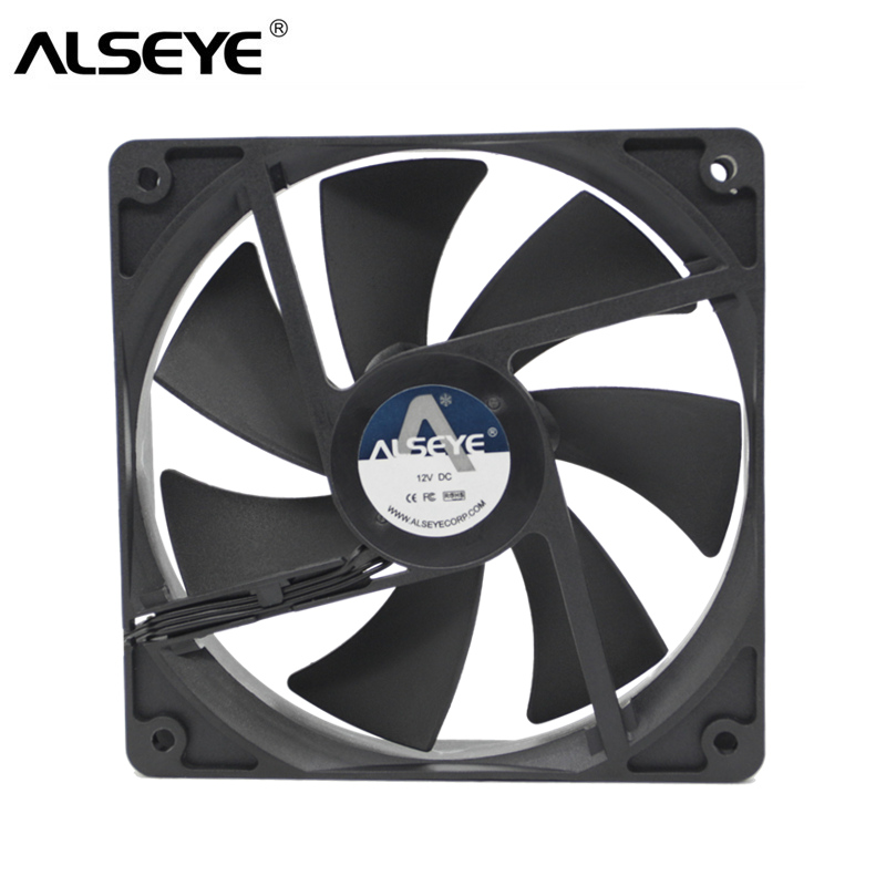 все цены на ALSEYE 120mm Fan Cooler 152 CFM DC 12V 4200RPM Powerful Cooling Fan for Minning 3pin Ball Bearing High Strong Fans for Miner онлайн