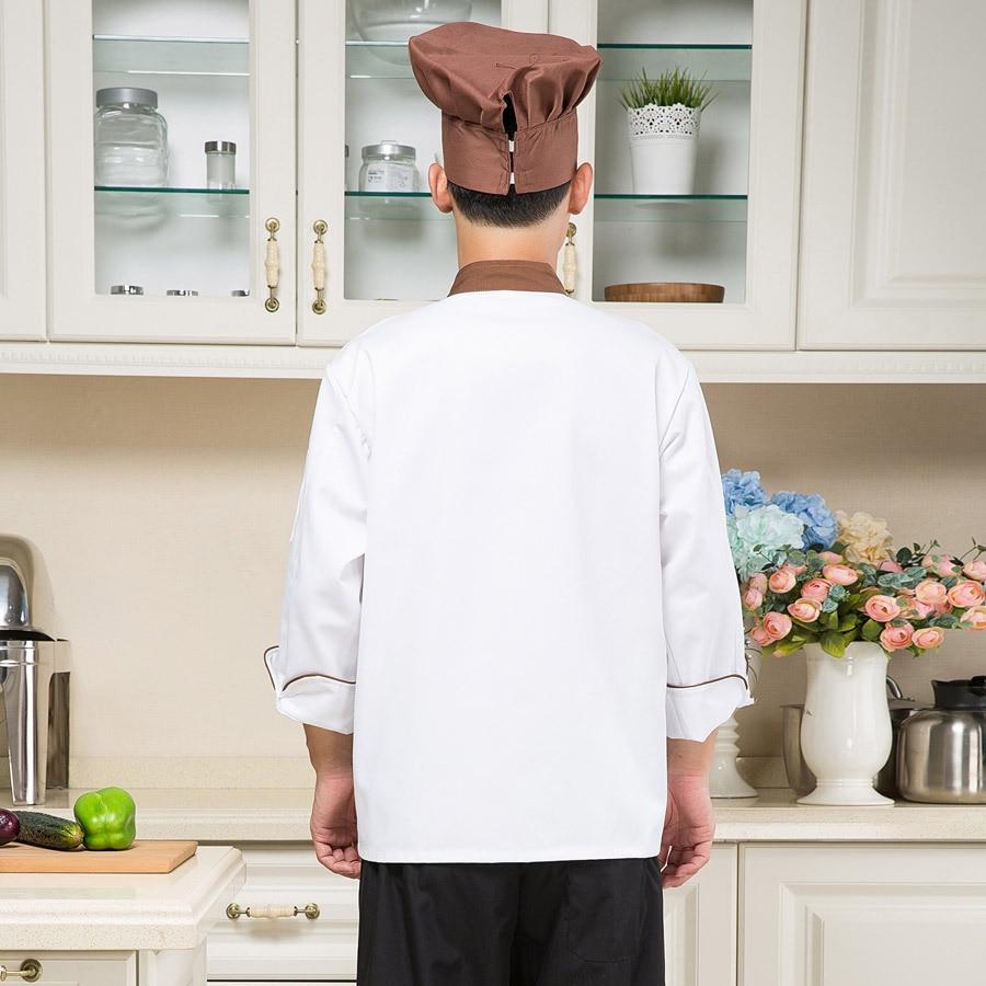 Hotel Restaurant Chef Jacket Cook Suit Wear Long Sleeved Kitchen ...