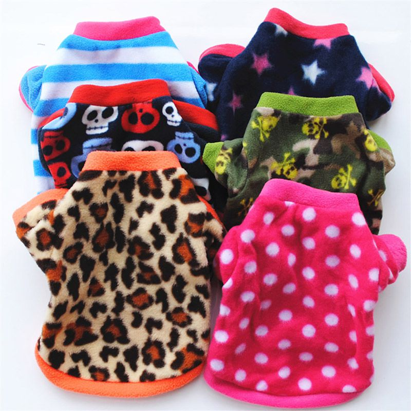 Print Dog Cats Clothes For Small Dogs Warm Winter Pet Dog Clothing Coat Shirt Pet Christmas Costume Soft Chihuahua Clothes