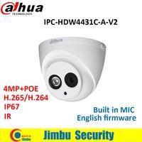 Dahua IPC HDW4431C A 4MP Full HD Network IR Mini Camera POE Built In MIC Cctv
