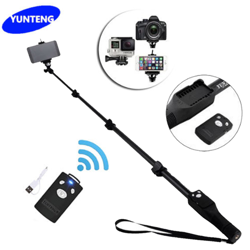 Yt-1288 Selfie Stick Yunteng 1288 Tripod Monopod Bluetooth Extendable Handheld VS 188 For Gopro Dslr Camera IOS Android Phone