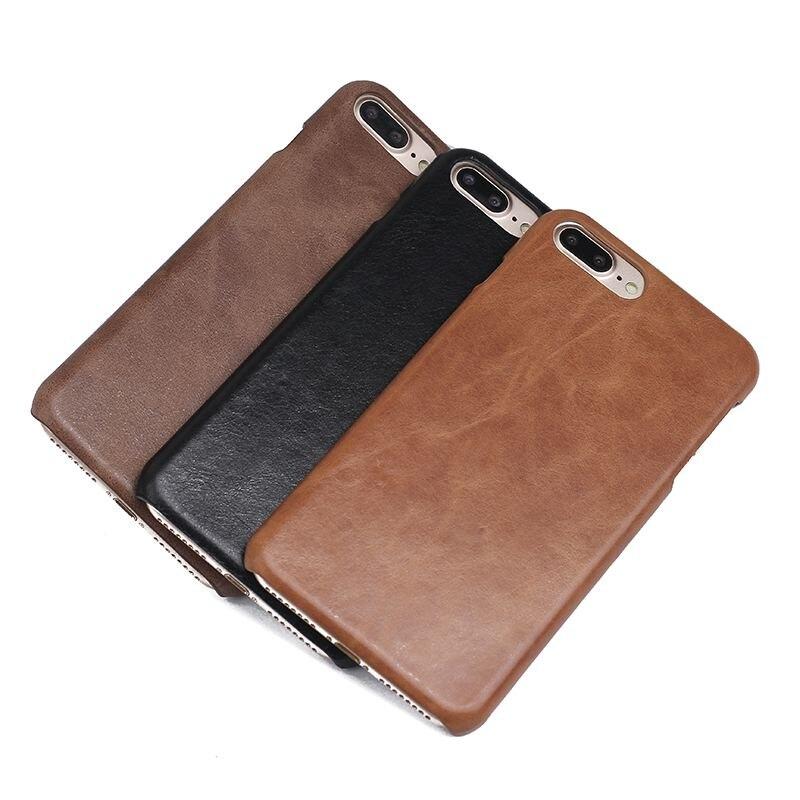 Estojo De Couro genuíno Para Apple Iphone 7 Plus 7 Coques Fosco Capa Protetora Para O Iphone 7 Caso Fundas