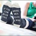 Carta Impreso Calcetines Divertidos Hombres Otoño Invierno Remiendo de Las Mujeres de Rayas de Invierno Calcetines Hombre Calcetines de Compresión de Algodón Con Estilo