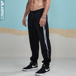 Image 4 - Aimpact 2018 nowy na co dzień Jogger spodnie męskie aktywny elastyczny miejskich Biker spodnie męskie bawełniane sznurek spodnie dresowe męskie śledzić spodnie AM5003