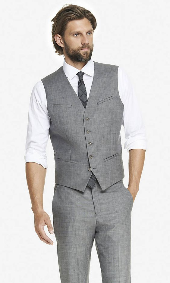 Light Grey 2017 Cheap Mens Waistcoat Formal Business Mens Vests Groomsmens Vest Wedding Prom Party Custom Made Casual Wear