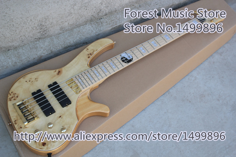 New Arrival Custom Shop Ash Wood Body 5 String Electric Guitar Bass With Tai Chi Inlay For Sale custom shop emerald green quilted body modulus bass quantum 5 string electric bass guitar china left handed available