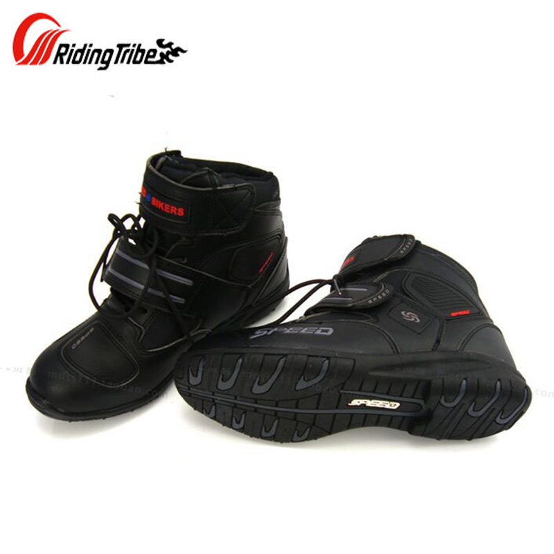Riding Tribe Motorcycle Microfiber Leather Boots Moto Bike SPEED Racing boot Motorbike Motocross street moto Boots riding tribe motorcycle waterproof boots pu leather rain botas racing professional speed racing botte motorcross motorbike boots