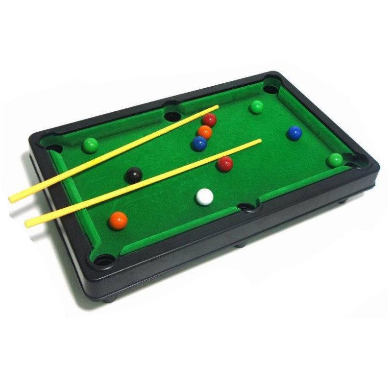 2018 New Childrens Billiard Table Toys mini billiard table with cues triangle and mini pool ball Kids Gift
