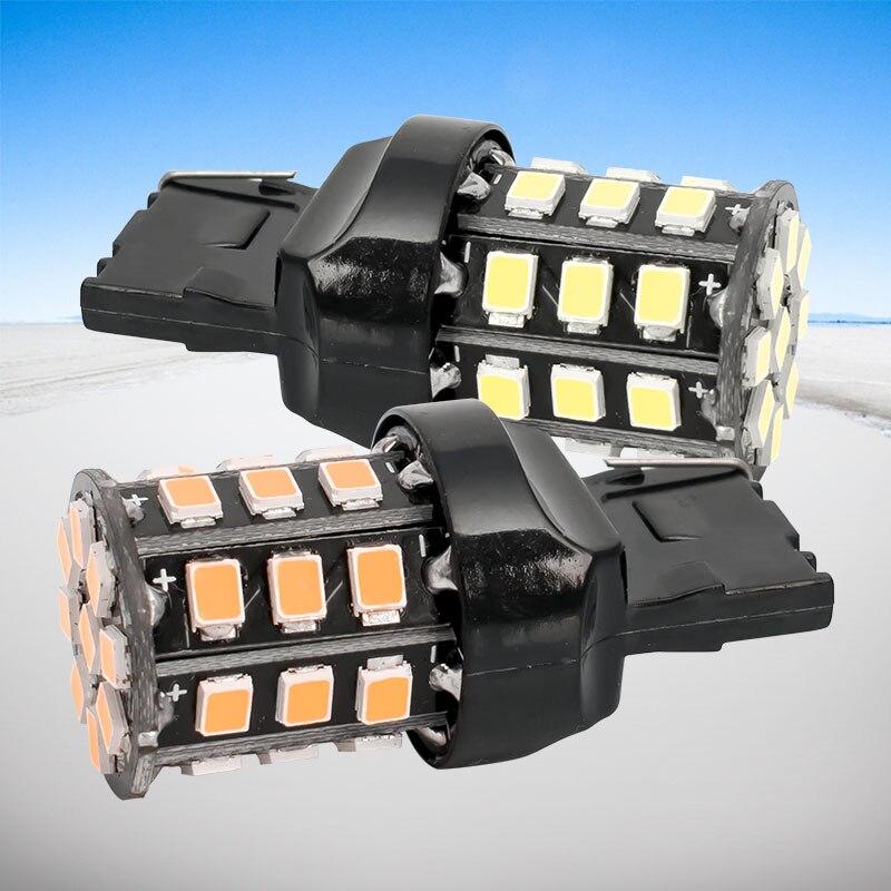 2 шт., Автомобильные светодиодные лампы T20 7440 W21W WY21W 33 2835 smd